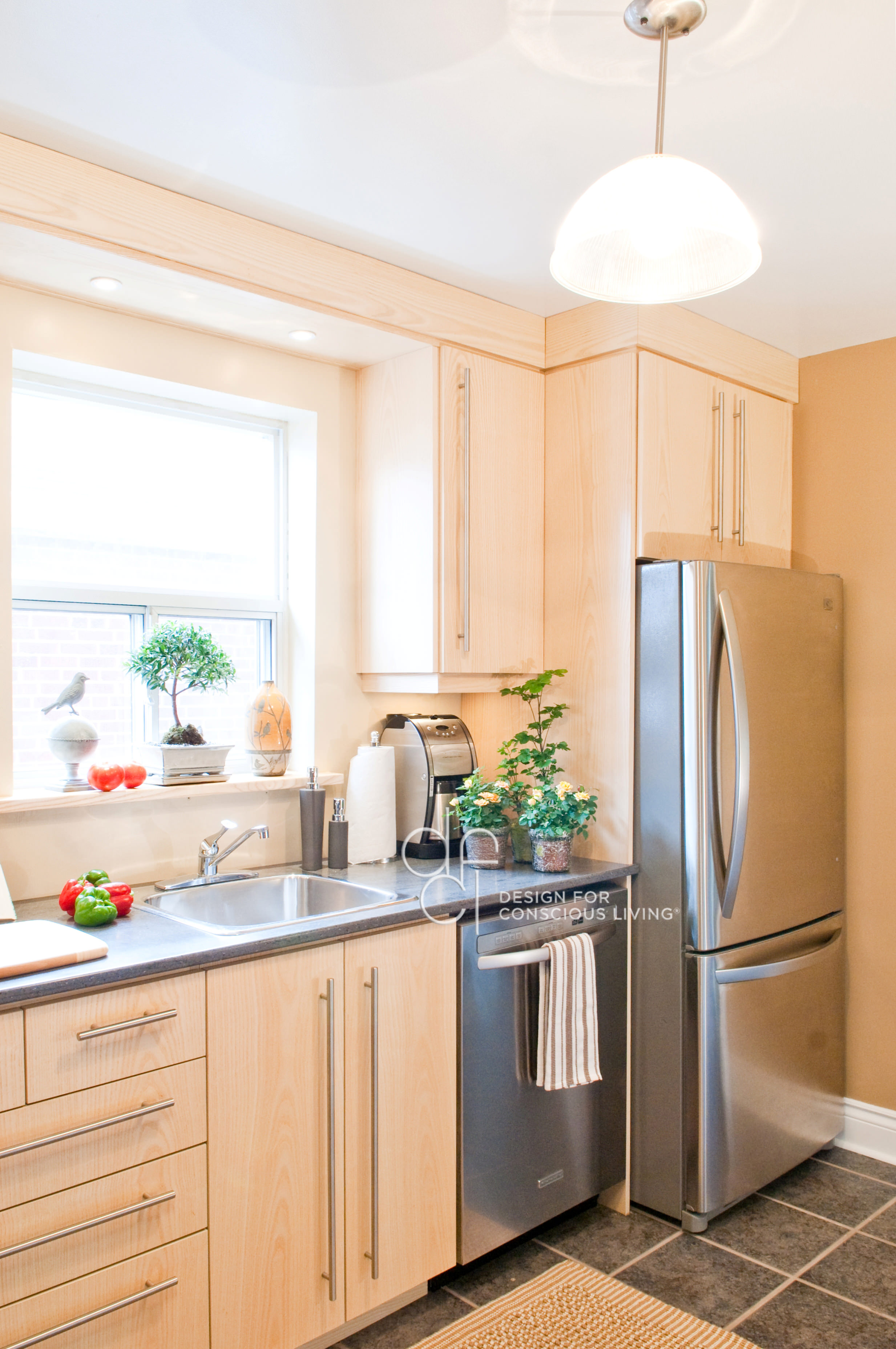 Kitchen redesign by design for conscious living
