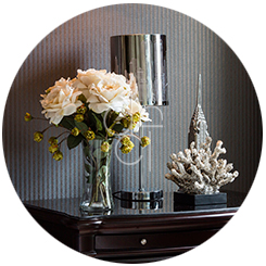 Interior Decorating - Flowers on Nightstand