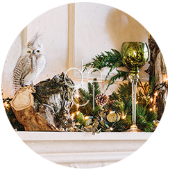 Interior Decorating - Fireplace Mantle